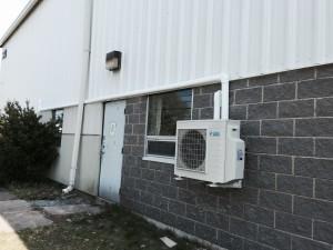 Commercial installation by SunAir Energy Solutions of a Daiken heat pump