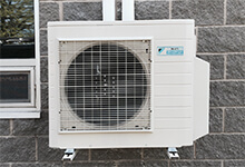 Ducted and ductless heat air to air and air to water heat pumps for heating and cooling from SunAir